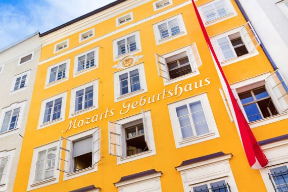 Mozart Geburtshaus - Ausflugsziel in der Stadt Salzburg