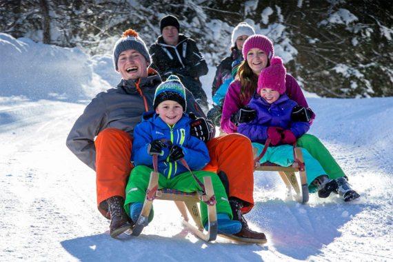 Rodeln - Winterurlaub in Eben im Pongau